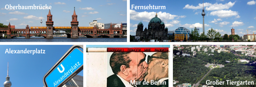 oberbaumbrücke alexanderplatz baiser de l'amitié tiergarten