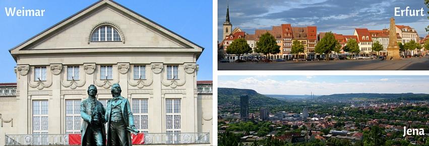 Thuringe, Weimar, Erfurt, Jena
