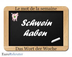 Schwein haben definition mot de la semaine