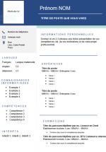 Muster 1 für französischen Lebenslauf