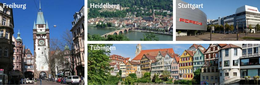 Chercher un emploi à Freiburg, Heidelberg, Tübingen ou Stuttgart