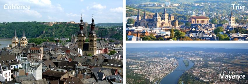 Coblence, Mayence, Trier