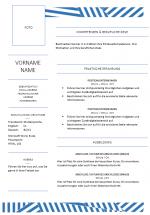Modèle gratuit CV allemand