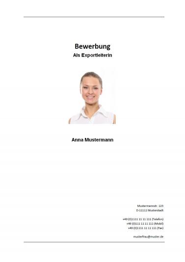 page de couverture candidature allemande