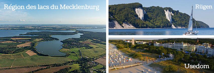 Mecklenburg, Région des lacs, Usedom, Ruegen
